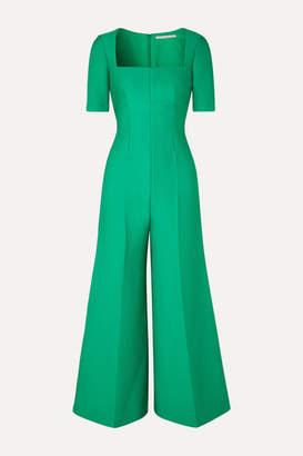 Emilia Wickstead Cloqué Jumpsuit - Emerald
