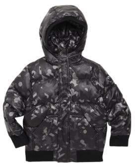 Appaman Little Boy's& Boy's Camouflage Puffer Coat