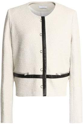 IRO Leather-Trimmed Bouclé-Tweed Cotton-Blend Jacket