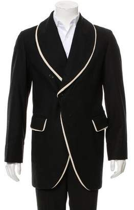 Ann Demeulemeester Wool Shawl-Lapel Coat