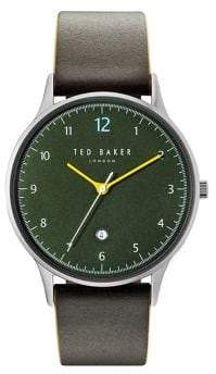 Ted Baker Ethan Leather Three-Hand Watch TE50519002