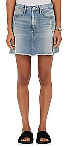 Frame Women's Le High Zip-Vent Denim Miniskirt-Md. Blue