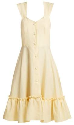 Gioia Bini Camilla Ruffle Trimmed Dress - Womens - Yellow