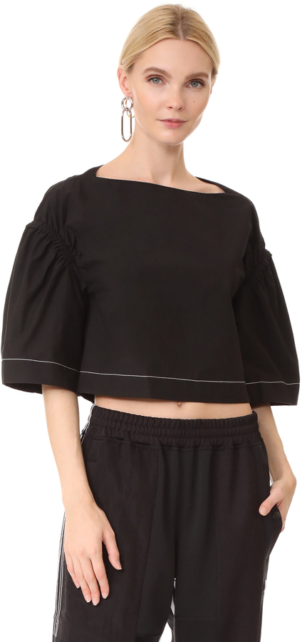 3.1 Phillip Lim 3.1 Phillip Lim Wide Sleeve Ruched Top