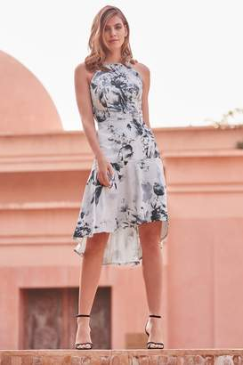 8e96030633d9 Next Lipsy VIP Mono Tori Print Satin Midi Dress - 4