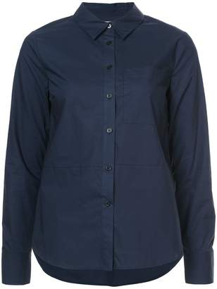 Derek Lam 10 Crosby Long Sleeve Button-Down Shirt With Ruffle Detail