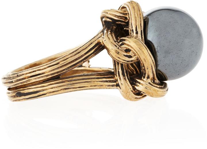 Stephen Dweck Hematite Carved Knit Ring