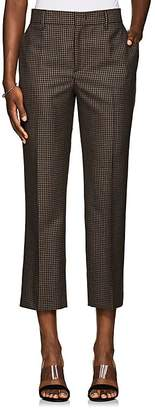 Prada Women's Checked Wool-Mohair Trousers