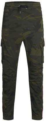 Jack and Jones Men's Striped Camp Cargo Jogger Pants