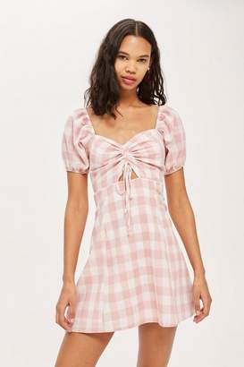 Oh My Love **Ruched Front Skater Dress