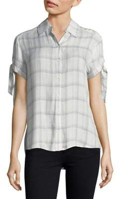 Paige Avery Cotton Button-Down Shirt