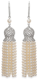 Badgley Mischka Vintage Elegance Tassel Earrings