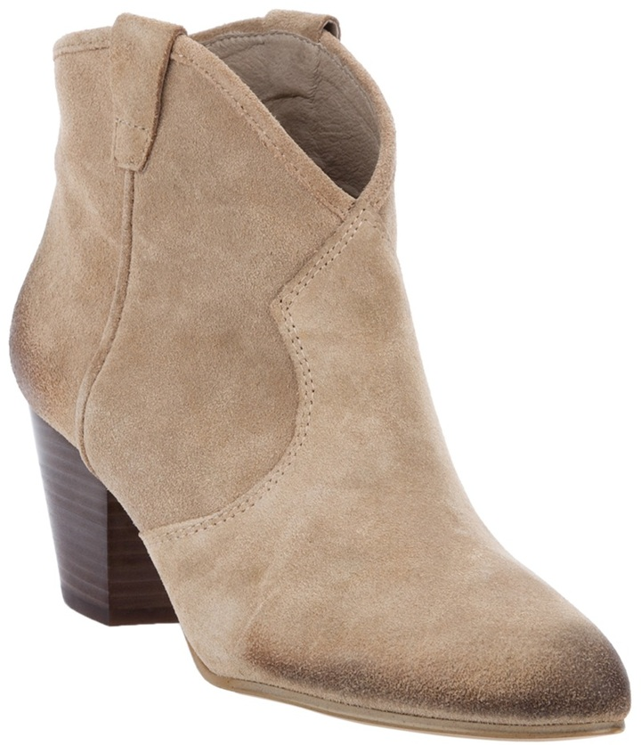 Ash MID HEEL ANKLE BOOT