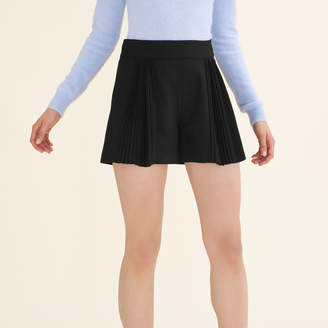 Maje Cropped shorts with pleated details