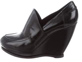 Balenciaga Leather Wedge Booties