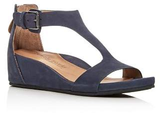 Kenneth Cole Gentle Souls by Gentle Souls Women's Gisele Nubuck Leather Platform Wedge Sandals