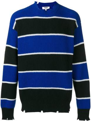 MSGM striped knit sweater