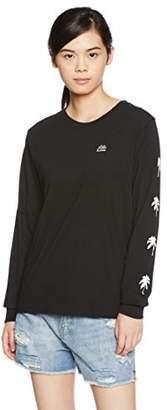 Billabong (ビラボン) - (ビラボン) BILLABONG [ レディース ] 長袖 プリント Tシャツ (袖プリント) 【 AH014-051 / LOGO TEE 】 ロンT AH014-051 BLK BLK_ブラック M