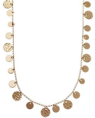 Nine West Hammered Metal Coin Strand Necklace