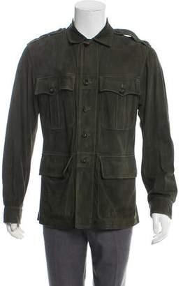 Gucci Suede Utility Jacket