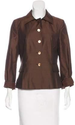 Alberta Ferretti Silk & Wool-Blend Jacket