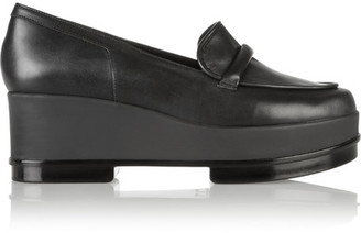 Robert Clergerie - Yokole Leather Loafers - Black $595 thestylecure.com