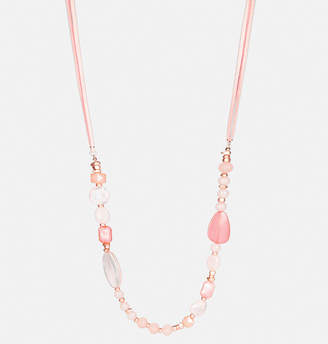 Avenue Blush Cord Rope Necklace