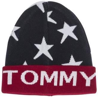 Tommy Hilfiger Unisex Star Beanie - Navy