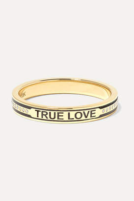 Foundrae True Love 18-karat Gold, Diamond And Enamel Ring - 6