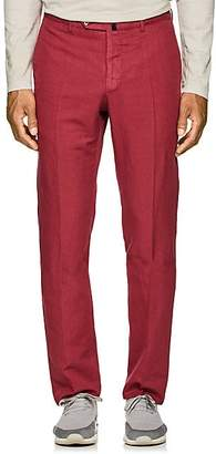 Incotex MEN'S B-BODY CLASSIC-FIT LINEN-COTTON CHINOS - PINK SIZE 42