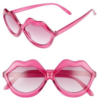 Women's Circus By Sam Edelman 58Mm Lips Sunglasses - Pink $36 thestylecure.com