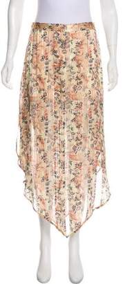 Haute Hippie Silk Midi Skirt