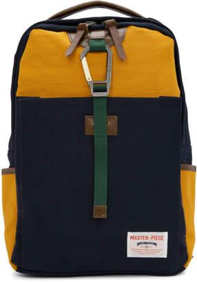 Master-piece Co Navy and Orange Link Backpack
