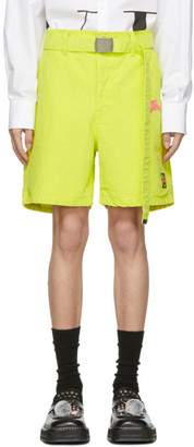 Doublet Yellow Silk Duck Shorts