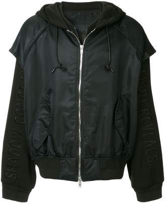 Juun.J layered hooded bomber jacket