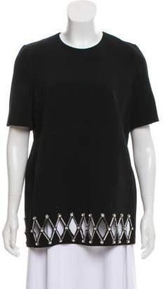 David Koma Embellished Short Sleeve Top