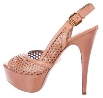 Prada Cut-Out Slingback Heels