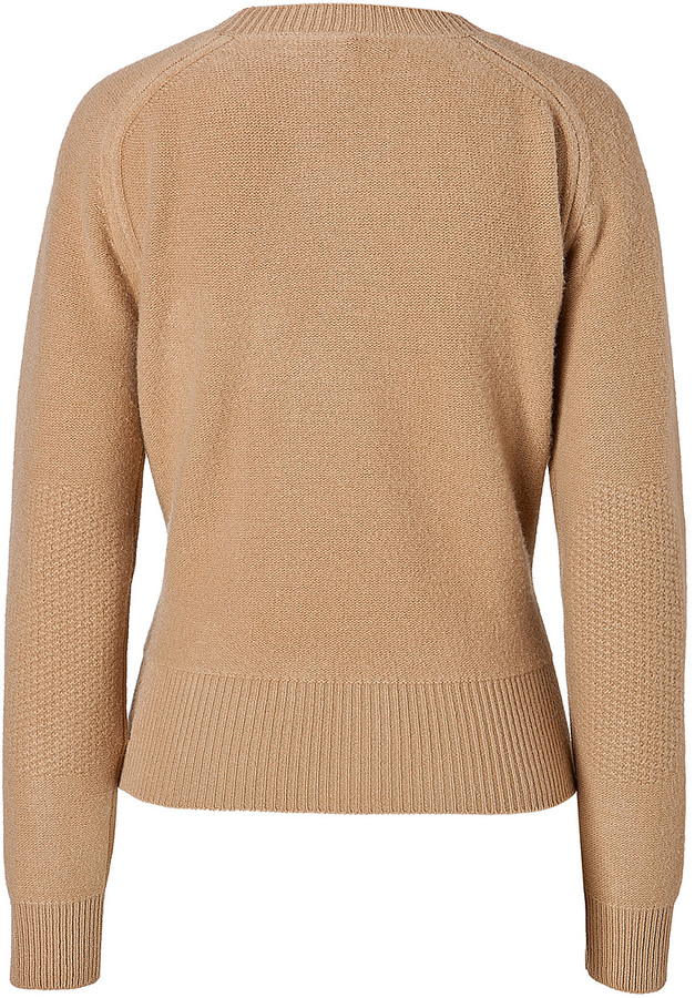J.W.Anderson Boiled Wool Twisted Pullover in Camel