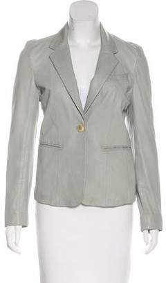 Joseph Leather Notch-Lapel Blazer