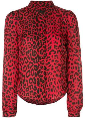 978def45 Red Leopard Print Top - ShopStyle