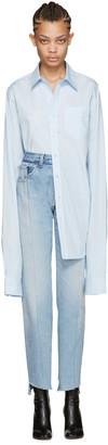 Vetements Blue Long Classic Shirt $770 thestylecure.com