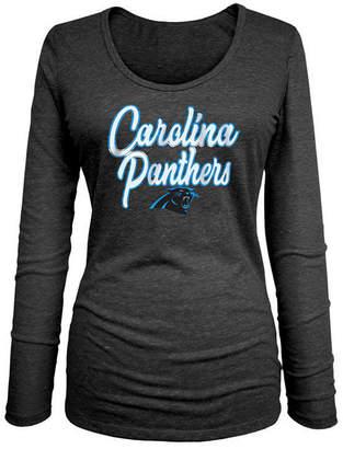 5th & Ocean Women Carolina Panthers Long Sleeve Triblend Foil T-Shirt
