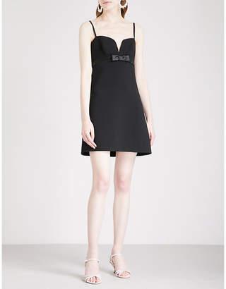 Miu Miu Sweetheart crepe babydoll dress