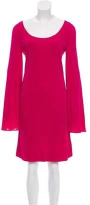 Gucci Long Sleeve Bateau Neckline Dress