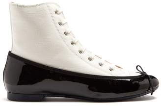 Marco De Vincenzo Ballet high-top canvas and leather trainers