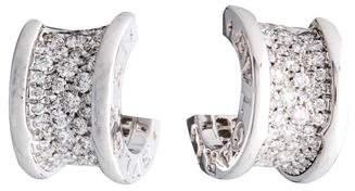 Bvlgari 18K Diamond B.Zero1 Hoop Earrings