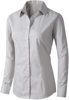879405d93910b Benibos Women s Formal Work Wear Simple Shirt (L
