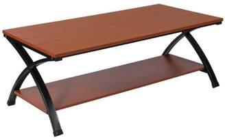 Flash Furniture Ringwood Cherry Wood Grain Finish Coffee Table with Black Metal Frame