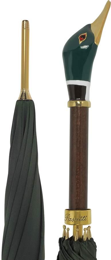 Pasotti Green Men's Umbrella w/Mallard Handle