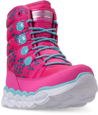 Skechers Little Girls' S Lights: Lumi-Luxe Light-Up Boots from Finish Line